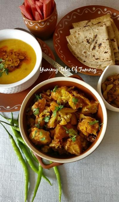Gobhi Aloo Dhaba style | Aloo Gobi fry