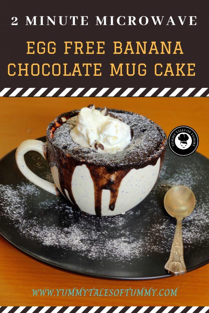 Banana Chocolate Mug Cake   Mug Cake Recipe