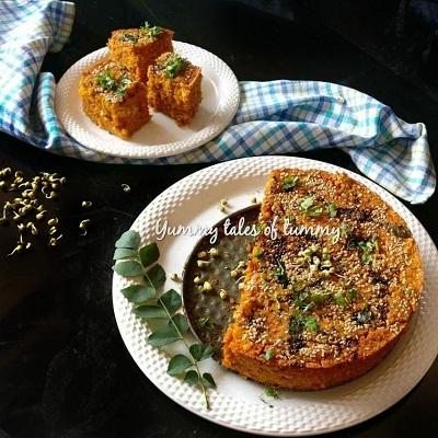 Sprouted moong handvo   Gujarati Handva recipe