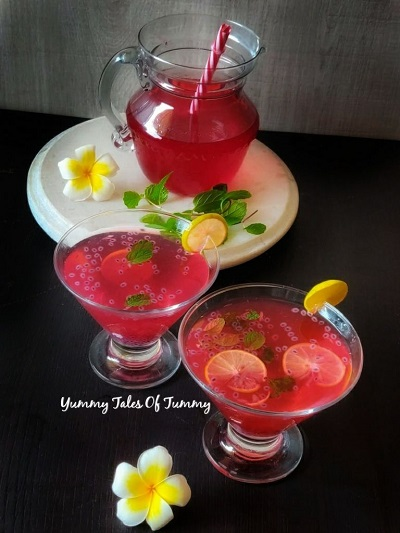 Rooh afza Lemonade | Rooh afza lemon sharbat