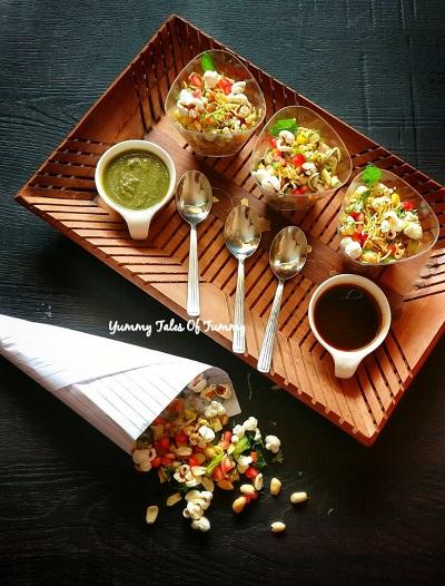 Popcorn bhel recipe | Popcorn chaat