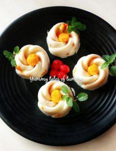 Mango China grass Pudding | Mango pudding