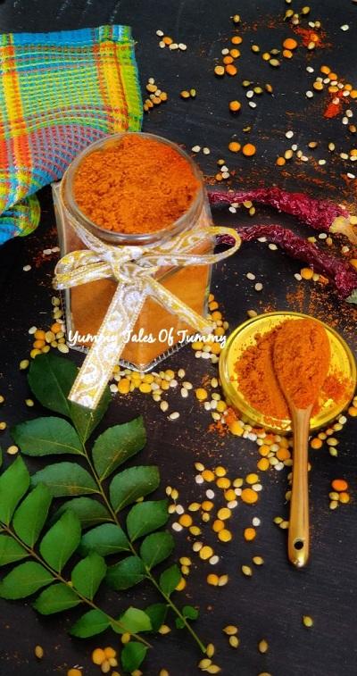 Sambar powder | Homemade Sambar masala