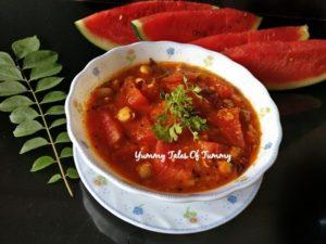 Rajasthani Tarbooj chana sabzi | Watermelon Chickpeas curry