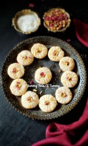 Read more about the article Coconut Peda Recipe | How to make Coconut Peda | Coconut fudge recipe