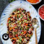 Kala chana chaat Recipe | Black Chickpeas salad