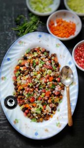 Read more about the article Kala chana chaat Recipe | Black Chickpeas salad