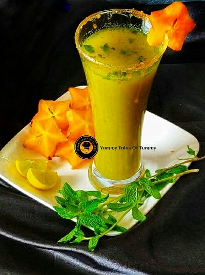 Star fruit Mojito | Star fruit Virgin Mojito