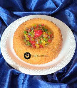 Eggless Semolina Coconut cake | Suji cake
