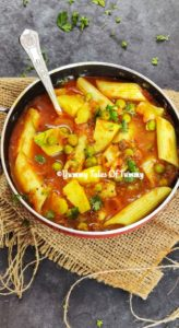 Alu matar Sabzi   Potatoes peas in Tomato gravy