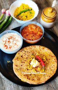 Moong Dal Paratha | Yellow mung dal stuffed Paratha