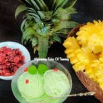 Avocado Pineapple and Coconut ice cream
