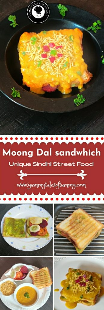 Dal sandwhich | Moong dal sandwhich