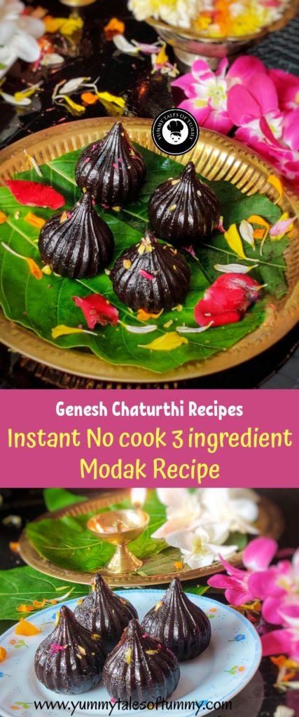 No cook Instant 3 Ingredient Modak Recipe