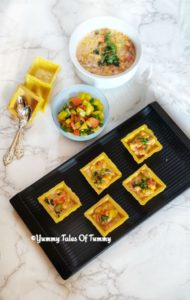Cheese corn canapes