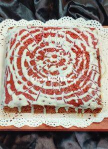 Eggless Red velvet cake | Red velvet cake
