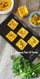 Cheese corn Canapes | White sauce vegetable Canapes