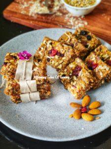 Dry fruits Energy Bar recipe | Protein bar recipe
