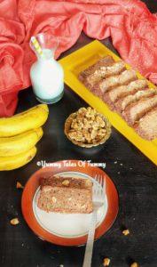 Eggless Banana Walnut Bread   Vegan Banana Bread