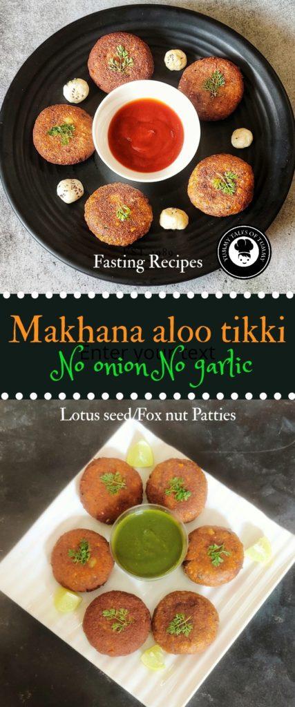 Makhana aloo tikki | Lotus seed (Fox nut) patties