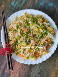 Read more about the article Vegetable Fried Rice Recipe | Chinese Fried Rice | Veg Fried Rice