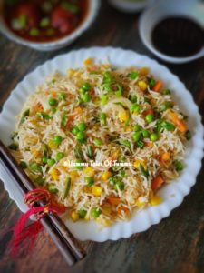 Vegetable Fried Rice Recipe | Chinese Fried Rice