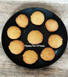 Eggless Coconut Cookies | Coconut Cookies