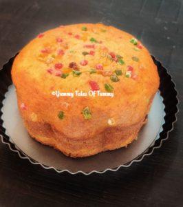 Eggless tutti frutti cake recipe | Tutti fruity cake