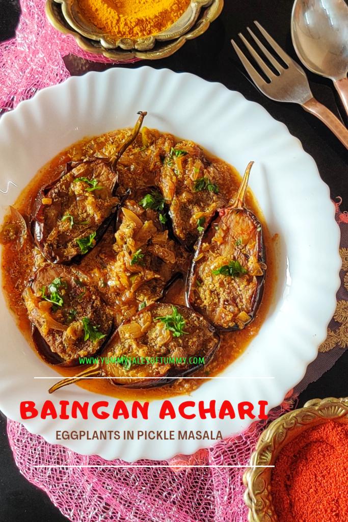 Baingan Achari | Eggplant in Pickle masala