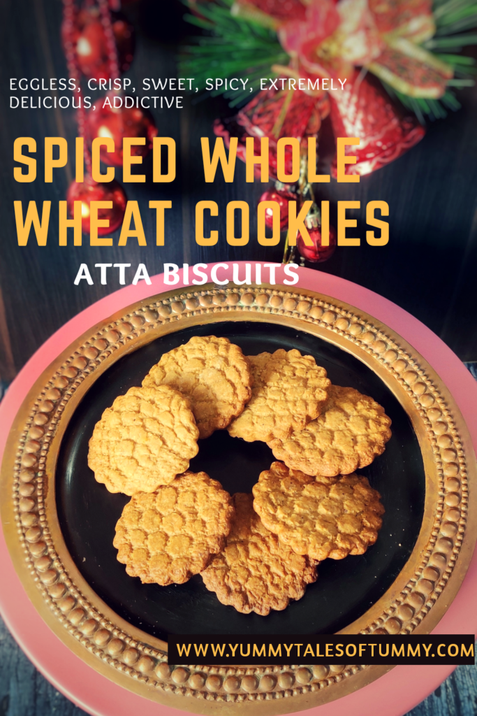 Spiced Whole Wheat Cookies   Atta Biscuits