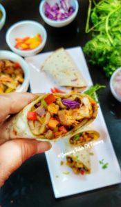 Chicken tikka wraps | Chicken tikka Kathi roll | Chicken Tikka Frankie