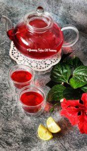 Hibiscus tea recipe   Gudhal ki chai