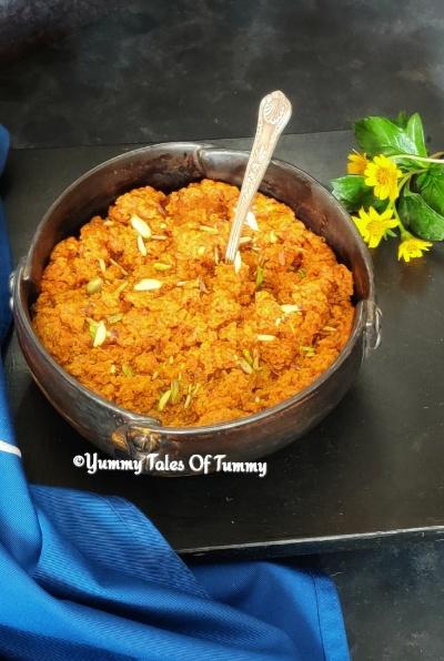 1 spoon ghee Gajar halwa recipe | Gajar ka halwa