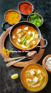 Read more about the article Paneer Masala Recipe | Restaurant style paneer masala