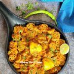 Kamal Kakdi Ki Sabzi (Seyal Bhee Patata) | Lotus stem curry