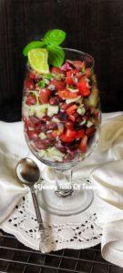 Kidney Bean Salad   Rajma and Vegetable salad