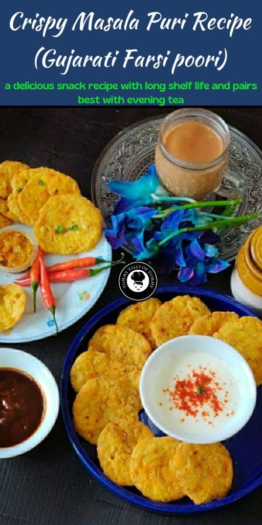 Crispy Masala Puri Recipe (Gujarati Farsi poori)