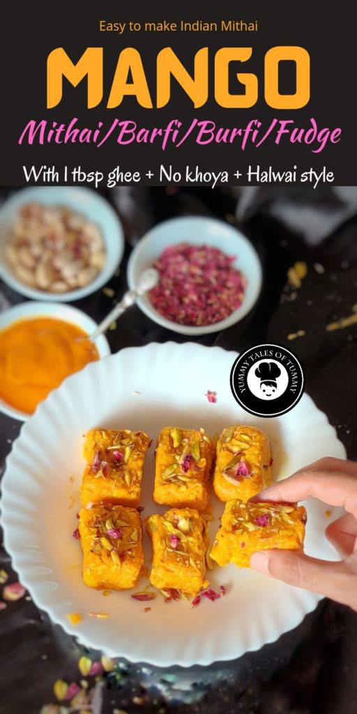 Mango Mithai Recipe | Mango barfi | Mango burfi