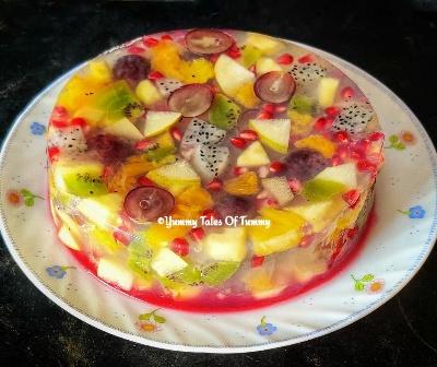 Fruit Jelly cake Recipe | Jelly fruit cake Recipe