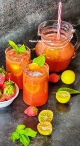 5 ingredient Strawberry Lemonade Recipe