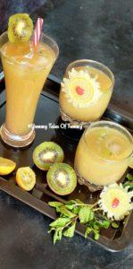 Easy 5 minute Kiwi Lemonade recipe