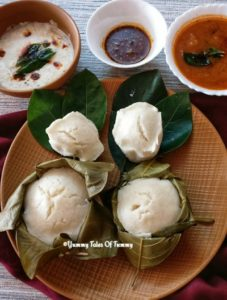 Read more about the article Khotto (Idli steamed in Jackfruit leaves) | Kottige