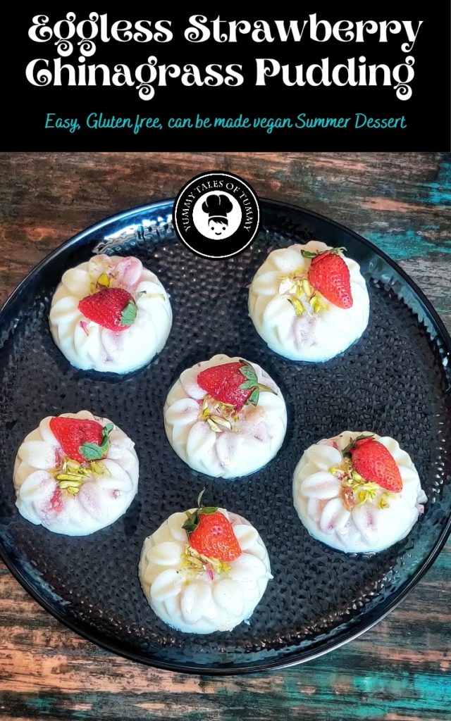Strawberry China grass Pudding Recipe