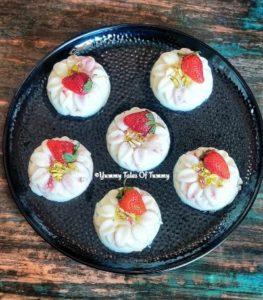 Strawberry China grass Pudding Recipe | Eggless Strawberry Pudding