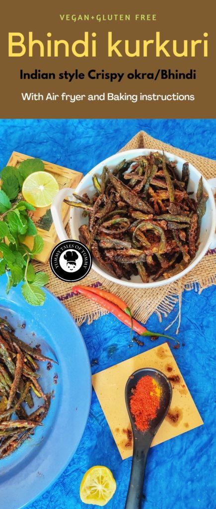 Bhindi Kurkuri | Indian style Crispy okra