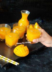 4 ingredient Mango Frooti Recipe | Mango Fruity