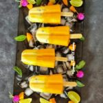 Mango Vanilla Custard Popsicles | Mango popsicles