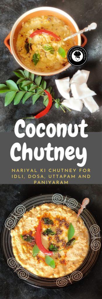 Coconut Chutney Recipe   Nariyal chutney