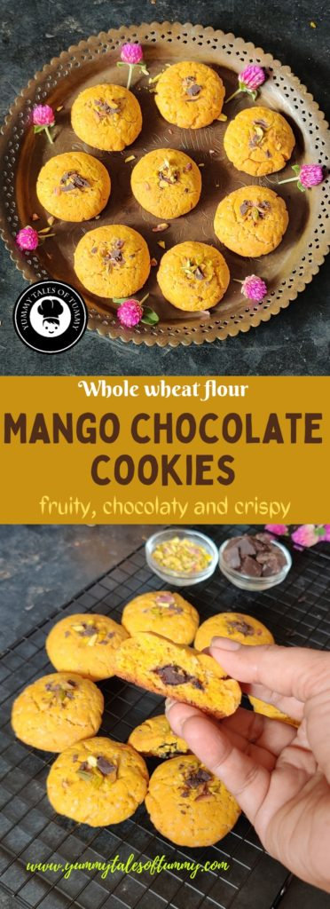 Mango chocolate cookies
