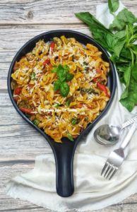 Red Sauce Pasta Recipe (with vegetables)